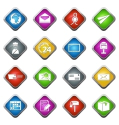 Post service icons set vector