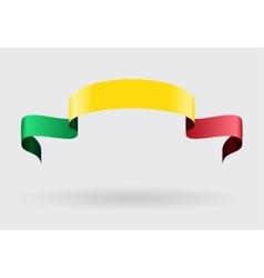 Malian flag background vector image