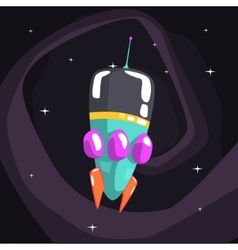 Alien Rocket Spaceship Is Classic Design vector image vector image