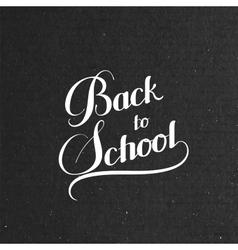 Back To School retro label vector image