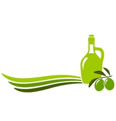 Background with olive oil vector
