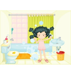 Bath time vector image vector image