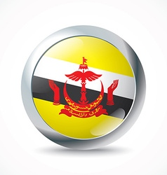 Brunei flag button vector