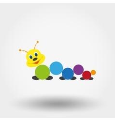 Caterpillar baby toy vector