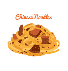 Chinese noodles ramen food asian noodle vector