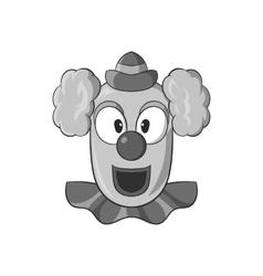 Clown face icon black monochrome style vector image vector image