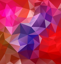 dark red polygon triangular pattern background vector image vector image