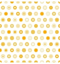 Disk yellow star seamless pattern vector