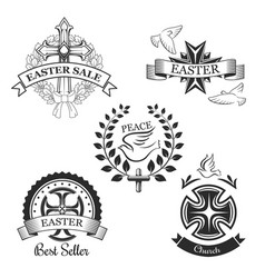 easter sale spring season special offer symbol vector image