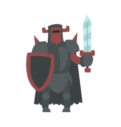 German Strong Knight With Sword And Shield Fairy vector image vector image