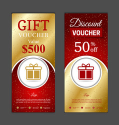 gift voucher template can be use for shopping vector image vector image