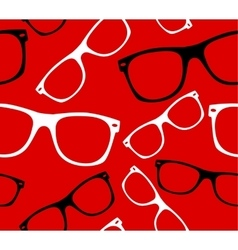 glasses seamless pattern retro hipster sunglasses vector image