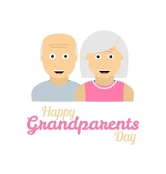 Grandparents day background with grandparents vector image