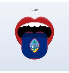 Guam language abstract human tongue vector