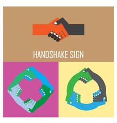 Handshake abstract signpartnership symbol vector image vector image