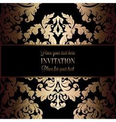 Invitation decorative golds 04 vector