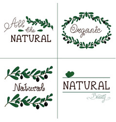 Natural quality handwritten logotype vector