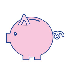 nice pig to save coin currency vector image vector image