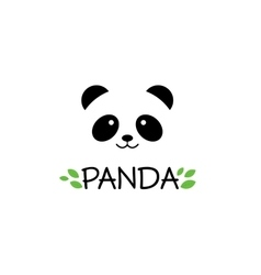 Panda sign Panda logo Panda vector image