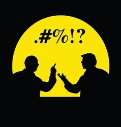 People talking silhouette vector