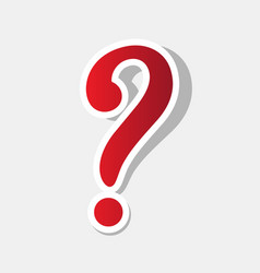 Question mark sign new year reddish icon vector