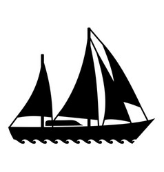 sailing ship icon simple style vector image