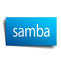 Samba blue paper sign on white background vector