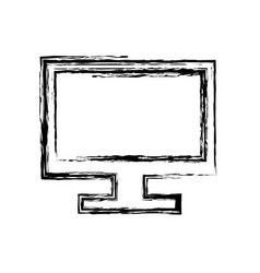 screen computer monitor computer display device vector image