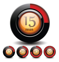 Set of digital buttons vector