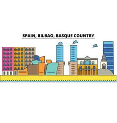 Spain bilbao basque country city skyline vector