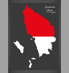 Sumatera utara indonesia map with indonesian vector