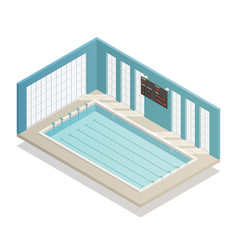 Swimming pool bath isometric view vector