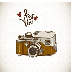 Vintage Card with Retro Camera vector image