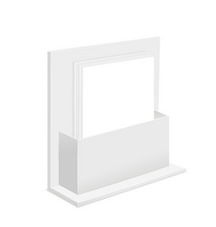 white paper empty blank template and cardboard vector image
