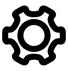 Cog stroke icon vector