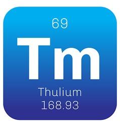 Thulium chemical element vector