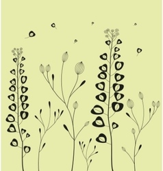 Decoration with field flowers vector