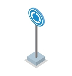 Roundabout road sign vector
