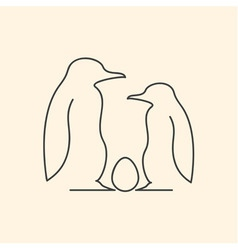 penguin family vector image