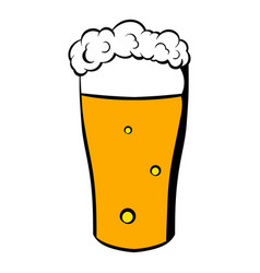 Glass of beer icon icon cartoon vector