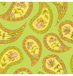 Green floral summer seamless pattern vector image