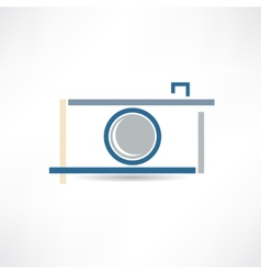 creative camera icon vector image
