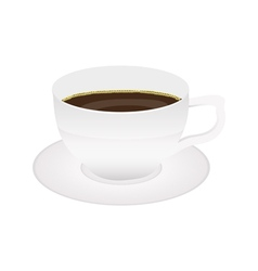Cup of coffee isolated on white vector