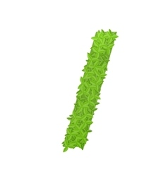 Slash sign consisting of green leaves vector
