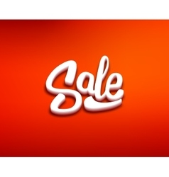 Sale 3d typography banner design template vector