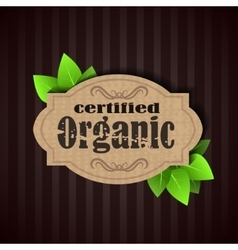 Eco friendly tag organic vector