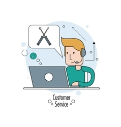 Flat about customer service design vector image
