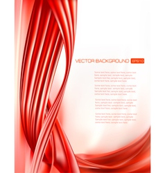 abstract red background with neon design elements vector image