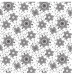 abstract seamless flowers pattern vector image vector image