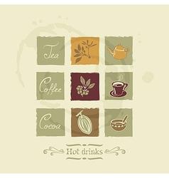 Beverages elements set vector image vector image